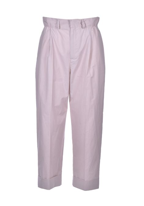 Long trousers with curled high waist - shell JUCCA | Trousers | J3124001837