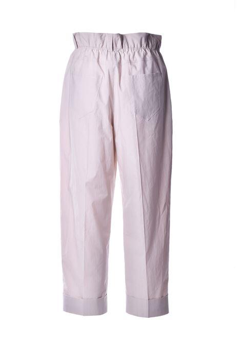 Pantalone lungo con vita alta arricciata - conchiglia JUCCA | Pantaloni | J3124001837