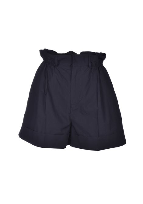 Cotton shorts with curled waist - black JUCCA | Shorts | J3124002003