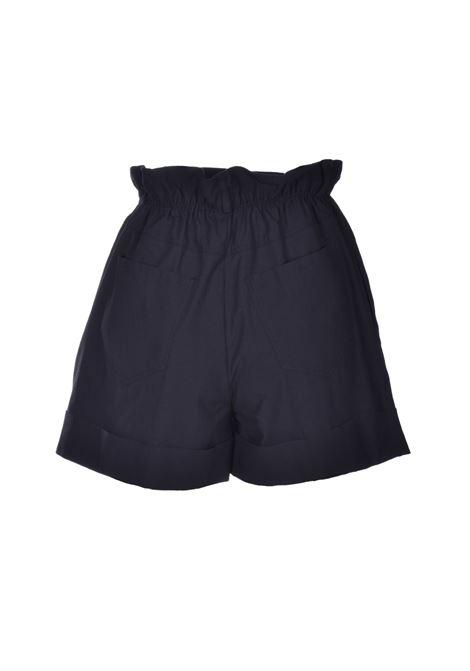 Shorts in cotone con vita arricciata - nero JUCCA | Bermuda | J3124002003
