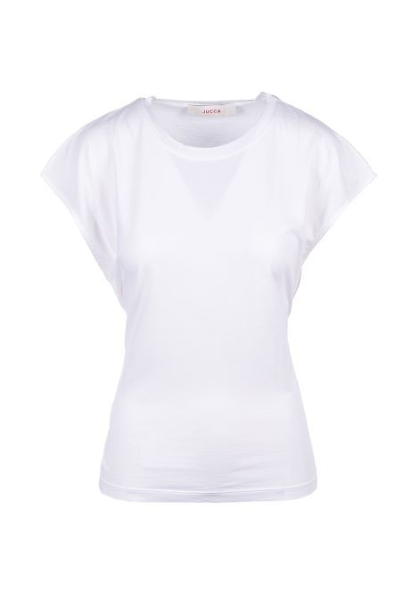 T-shirt with bow - white JUCCA | T-shirts | J3128001045