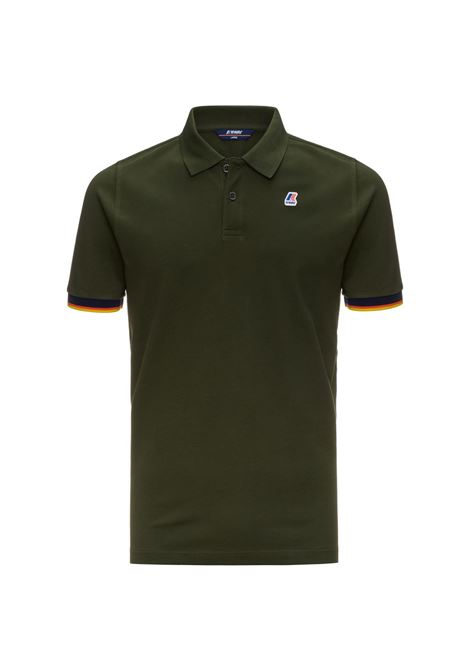 POLO VINCENT CONTRAST - Green Africa K-WAY | Polo Shirts | K008J50576