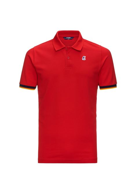 POLO VINCENT CONTRAST - Red K-WAY | Polo Shirts | K008J50K08