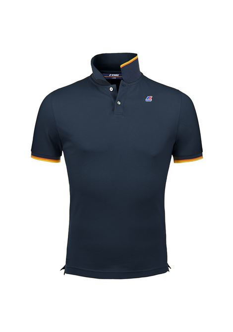 POLO VINCENT CONTRAST - Blue Depht  K-WAY | Polo Shirts | K008J50K89
