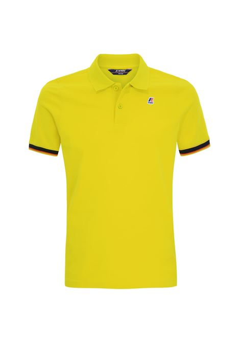 POLO VINCENT CONTRAST - Green Lime K-WAY | Polo Shirts | K008J50V07
