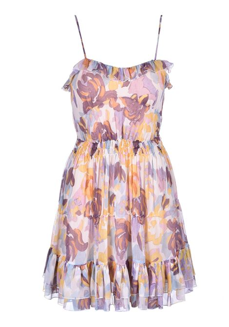 mini dress with flounces - melange flowers M. MISSONI | Dresses | 2DG00267/2W0033S104G