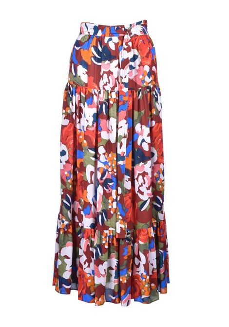long skirt with flounces - patterned M. MISSONI | Skirts | 2DH00095/2W0032S803G