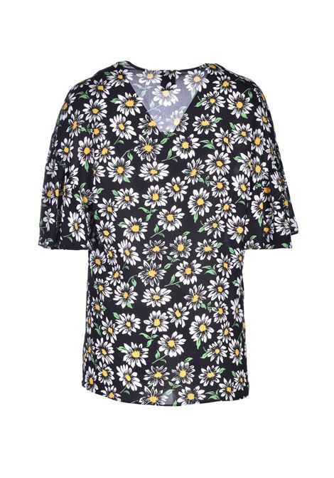 Flower bluse in crêpe M MISSONI | Blouse | 2DJ00074/2W0035S909J