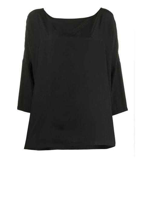 blusa con scollo quadrato - celeste M MISSONI | Bluse | 2DJ00075/2W001034304