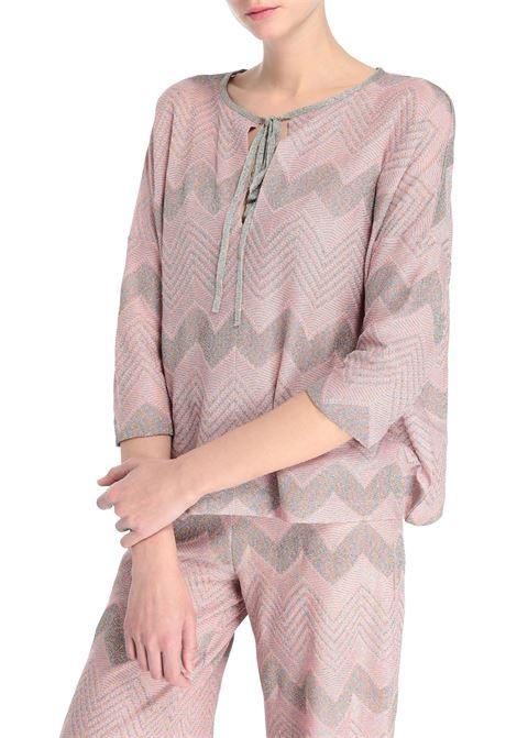 Zigzag blouse - black M MISSONI | Blouse | 2DJ00085/2J001VL301G