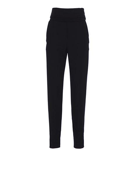 Nina cigarette trousers with midriff band MANILA GRACE   Trousers   1NINA0MD500