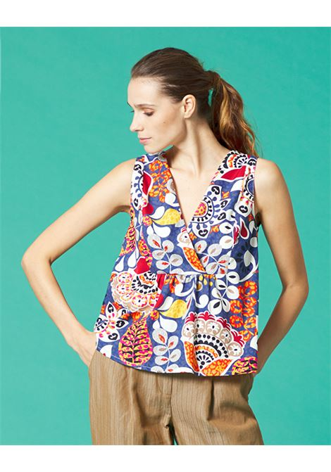 Printed top MANILA GRACE |  | C500CFMD876