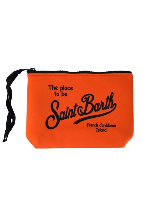 Fluorescent orange aline clutch bag MC2 SAINT BARTH | Bags | ALINE8500