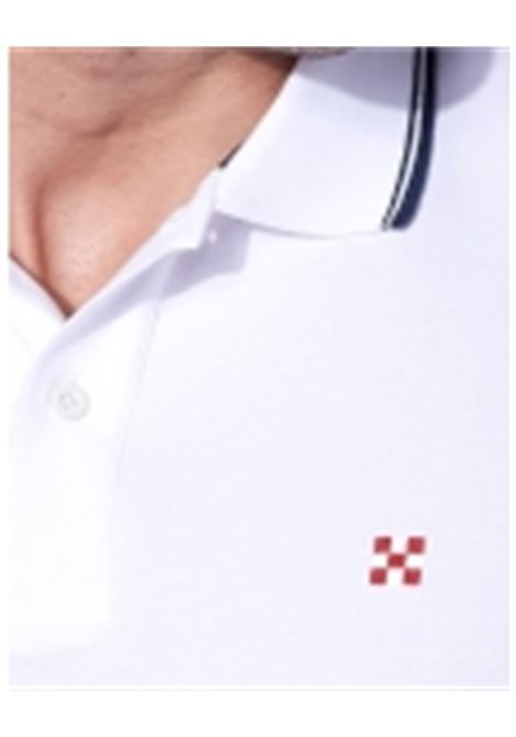 piquet polo whit st.barth check logo - white MC2 SAINT BARTH | Polo Shirts | BEVERLY HILLS01