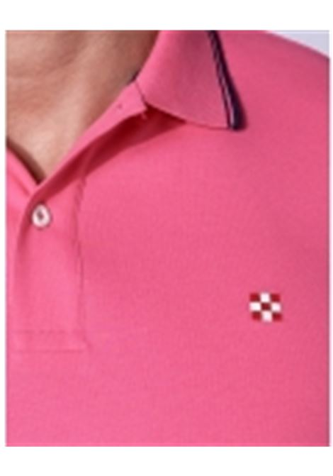 piquet polo with st barth check logo - pink MC2 SAINT BARTH | Polo Shirts | BEVERLY HILLS25