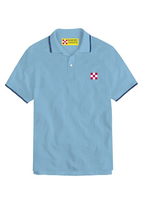 piquet polo with st barth check logo - light blue MC2 SAINT BARTH | Polo Shirts | BEVERLY HILLS31