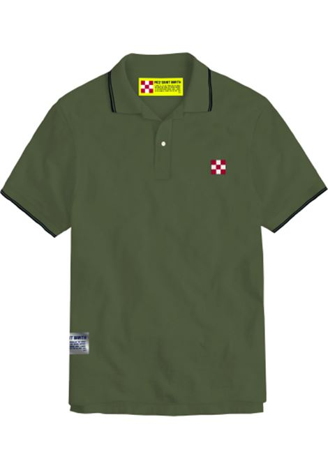 polo in piquet con logo a scacchi - Verde militare MC2 SAINT BARTH | Polo | BEVERLY HILLS52