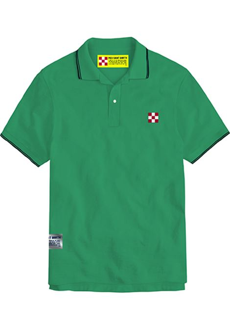 piquet polo with st barth check logo - mint MC2 SAINT BARTH | Polo Shirts | BEVERLY HILLS57N