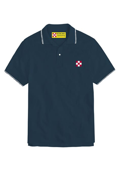 piquet polo st barth check logo - blue MC2 SAINT BARTH | Polo Shirts | BEVERLY HILLS61