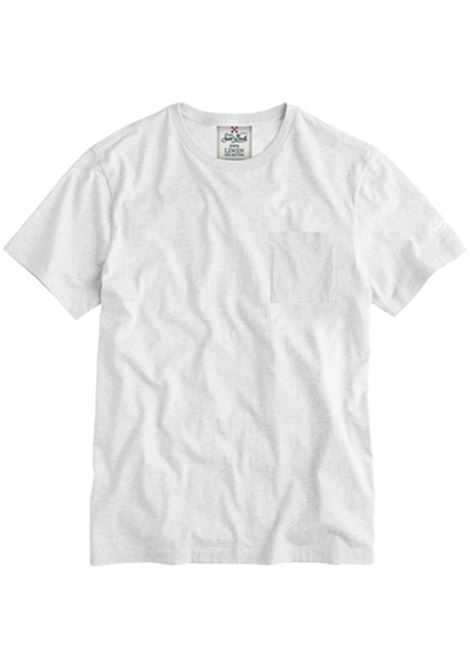 T-shirt in lino - bianco MC2 SAINT BARTH | T-shirt | ECSTASEA01