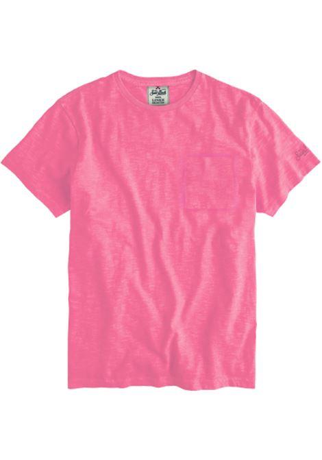 Linen pink t-shirt MC2 SAINT BARTH | T-shirts | ECSTASEA21