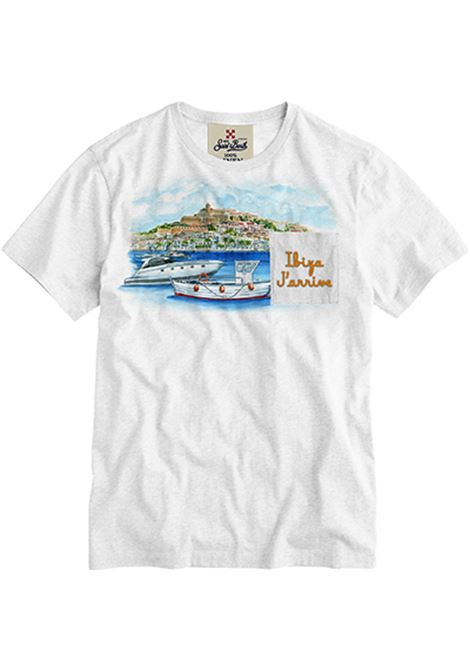t-shirt in lino con taschino - Ibiza MC2 SAINT BARTH | T-shirt | ECSTASEAEMIZ01