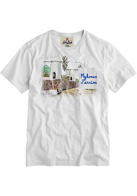 t-shirt in lino con taschino - Mykonos MC2 SAINT BARTH | T-shirt | ECSTASEAEMMY01