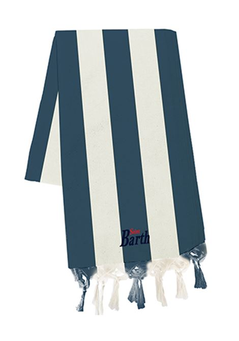 light cotton beach towel - blue navy MC2 SAINT BARTH | Beach Towel | FOUTAS LIGHTVBGL06