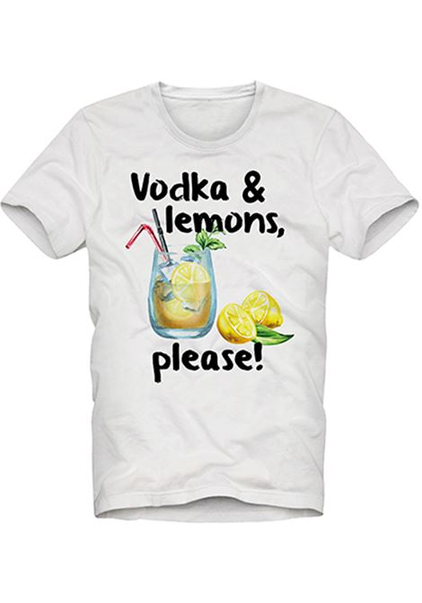 t-shirt in cotone - vodka lemon MC2 SAINT BARTH | T-shirt | TSHIRT MANVOLP01