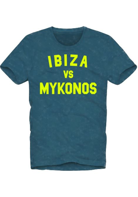 t-shirt uomo bluette - Ibiza vs Mykonos MC2 SAINT BARTH | T-shirt | WINWOODIBMY17