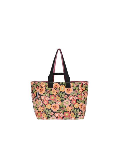 BAG WITH DOUBLE HANDLE IN ECO-LEATHER - flower MOMONI | Bags | MOBC001 60MO9038