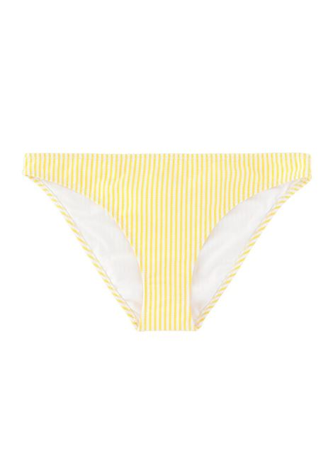 BIKINI BRIEFS IN YELLOW STRIPES PRINT MOMONI | Swimwear | MOBE010 50MO0260