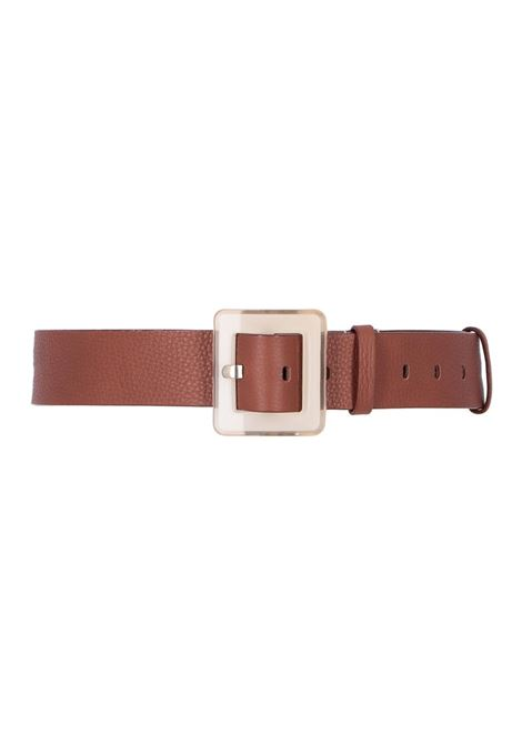 Wide leather belt with plastica buckle MOMONI | Belt | MOBT004 66MO0153