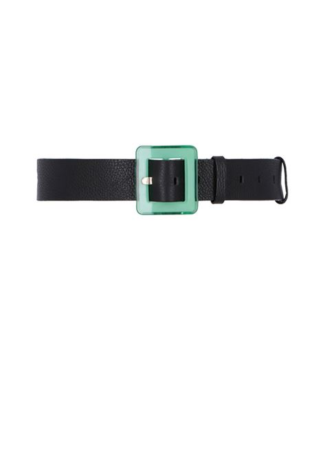 Wide leather belt with plastic buckle MOMONI | Belt | MOBT004 66MO0990
