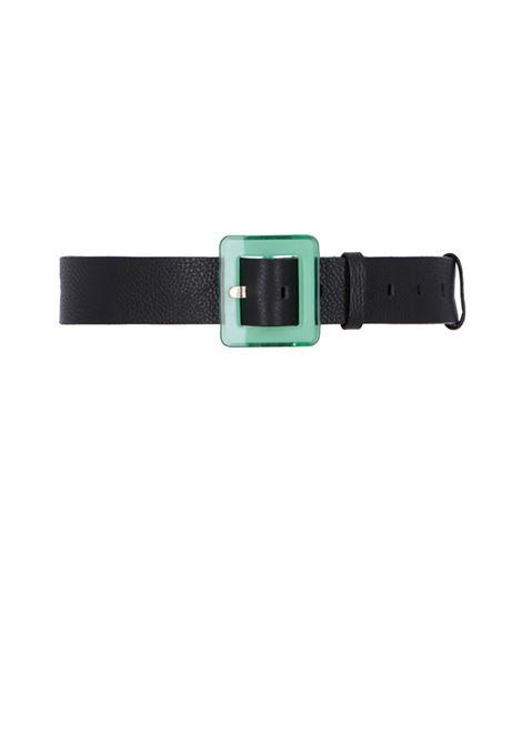 Cintura in pelle ampia con fibbia in plastica MOMONI | Cinture | MOBT004 66MO0990
