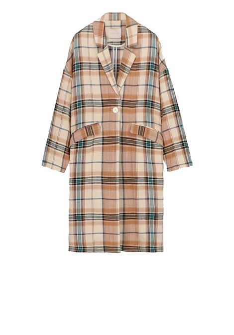Oversized coat, unlined in check pattern MOMONI | Overcoat | MOCO005 19MO7032