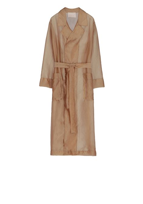 Trench coat with organza belt MOMONI | Overcoat | MOCO006 23MO0050