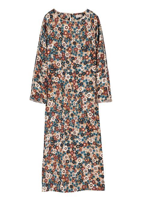 FLOWER PRINT SILK LONGUETTE TUNIC DRESS MOMONI | Dresses | MODR004 01MO8016