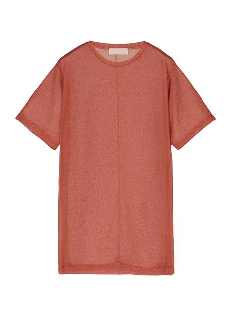 ORANGE JERSEY LUREX T-SHIRT DRESS MOMONI | Dresses | MODR034 32MO0351