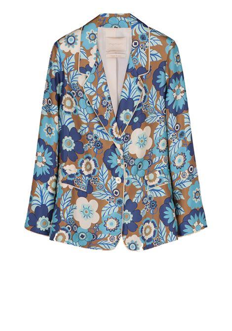 Giacca in seta con stampa a fiori anni '70 MOMONI | Giacche | MOJA001 01MO8564
