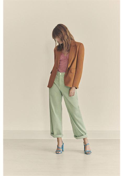 Slim single-breasted jacket in stretch cady MOMONI | Blazers | MOJA006 21MO0618