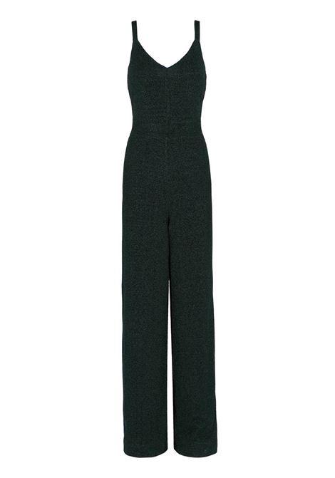 THIN STRAPS JUMPSUITE IN DARK GREEN LUREX JERSEY MOMONI | suits | MOJP002 32MO0792