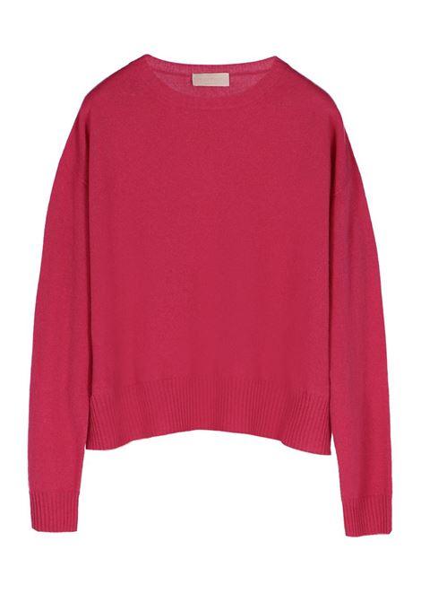 CASHMERE BLEND CREW NECK SWEATER, strawberry MOMONI | Sweaters | MOKN001 38MO0451