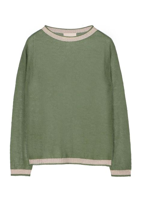 LIGHT MOHAIR CREW NECK SWEATER WITH LUREX DETAILS MOMONI | Sweaters | MOKN003 39MO0711