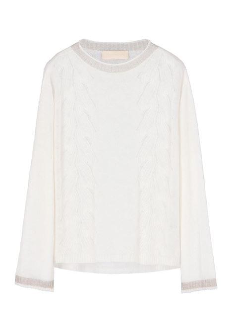 LIGHT MOHAIR CABLE SWEATER, LIGHT MILK MOMONI   Sweaters   MOKN005 39MO0020