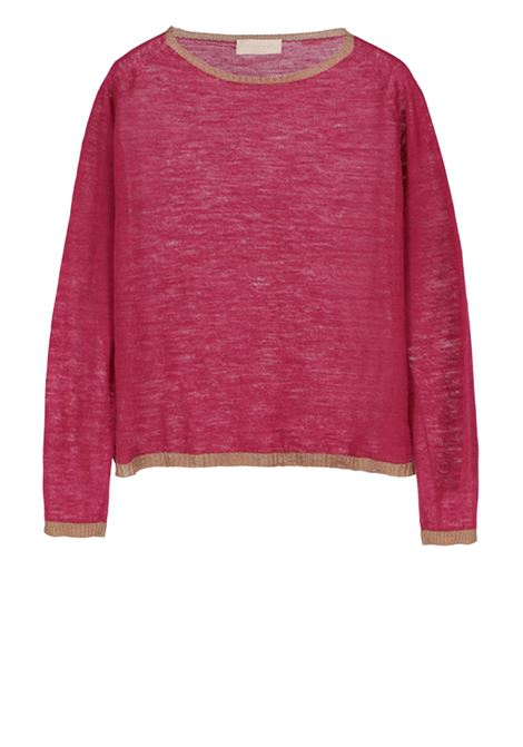 Linen long-sleeved crew neck jersey sweater MOMONI | Sweaters | MOKN009 41AMO0451