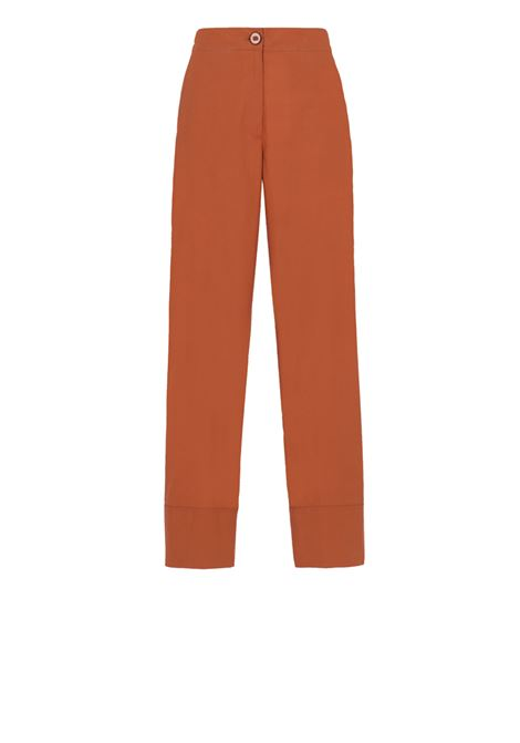 Rust cotton poplin trousers MOMONI | Trousers | MOPA004 07MO0611