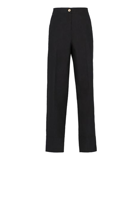 Black cotton poplin trousers MOMONI | Trousers | MOPA004 07MO0990