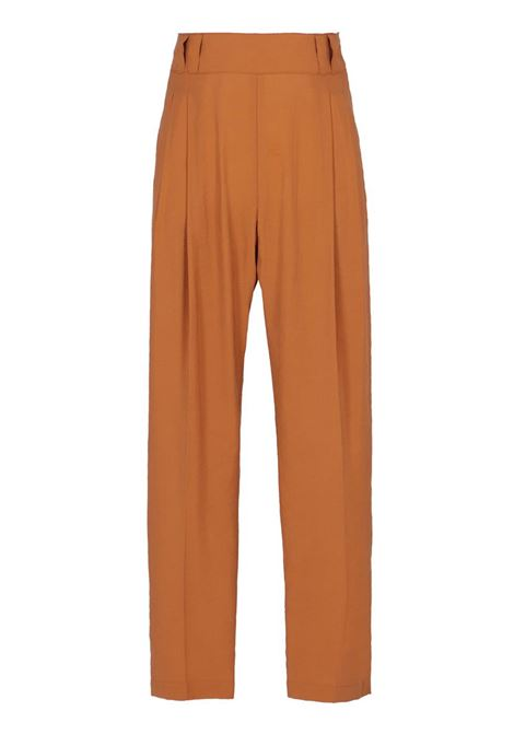PEACH-FINISH MODAL FABRIC PANT MOMONI | Trousers | MOPA006 08MO0618
