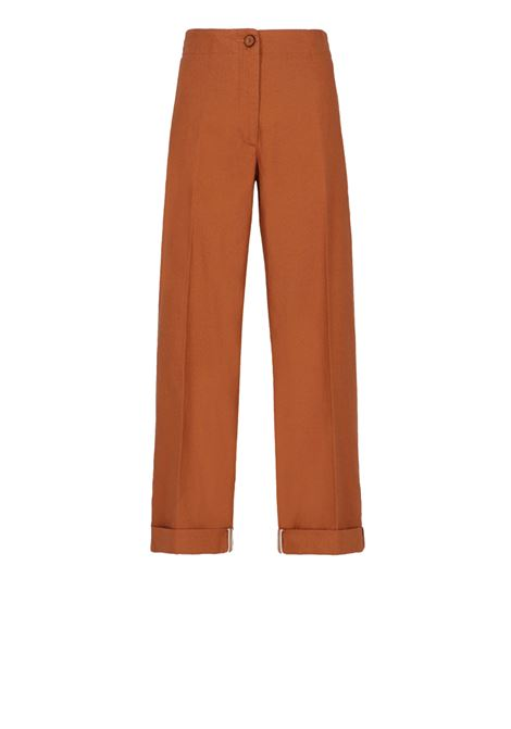 Straight leg burnt trousers with elastic MOMONI   Pants   MOPA007 14MO0618